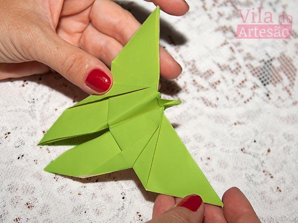 Passo-a-passo de origami borboleta