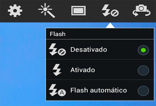 Deixe o flash desligado