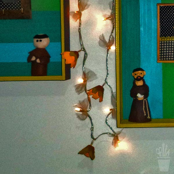 Luzes de piscas decorados