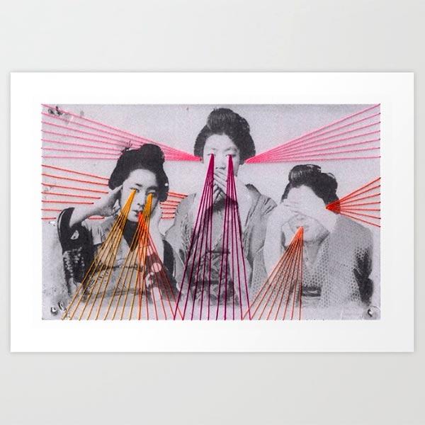 Mana Morimoto e suas fotografias bordadas