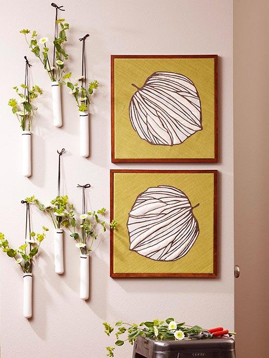 Verão com vasos nas paredes