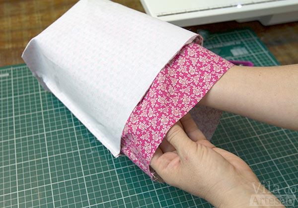 Tecidos composê - Encaixe o forro