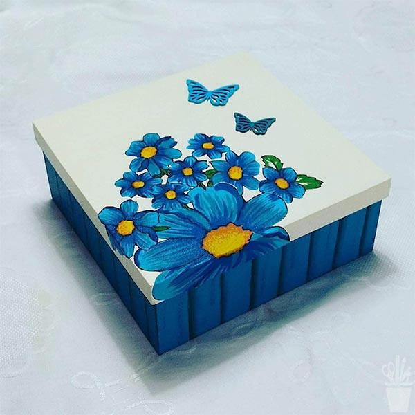 Caixa decorada para organizar