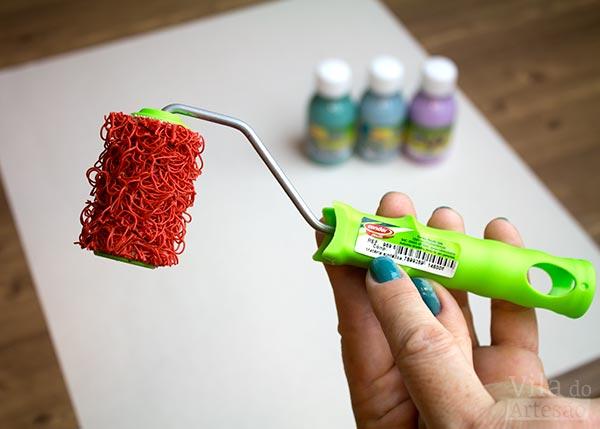 Use um rolinho de textura