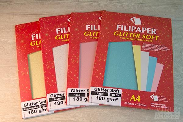 Papel Glitter da Filiperson