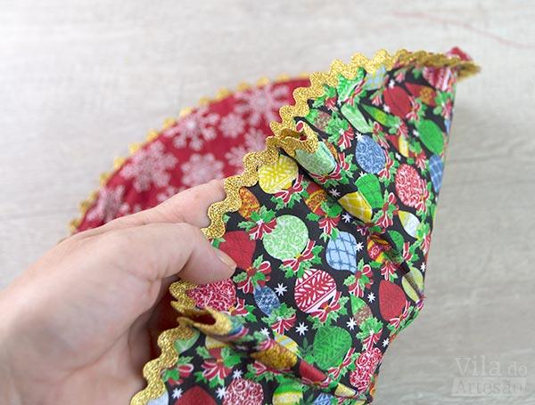 Cestas de tecido - Pences costuradas