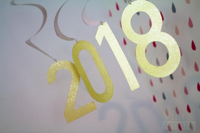 Enfeite de ano novo fácil e rápido