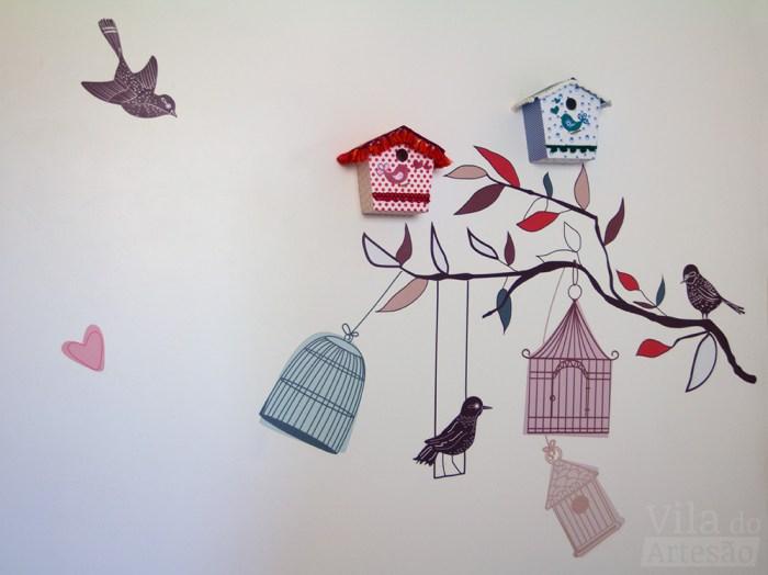 Casinha de passarinho para fantasia na decoração