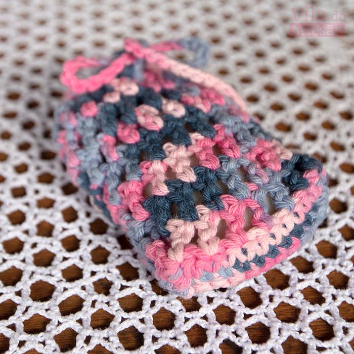 Como fazer um fácil esfoliante porta sabonete em crochê