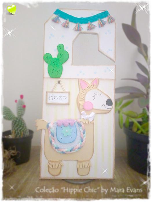 Sinalizador de porta de quarto de bebê