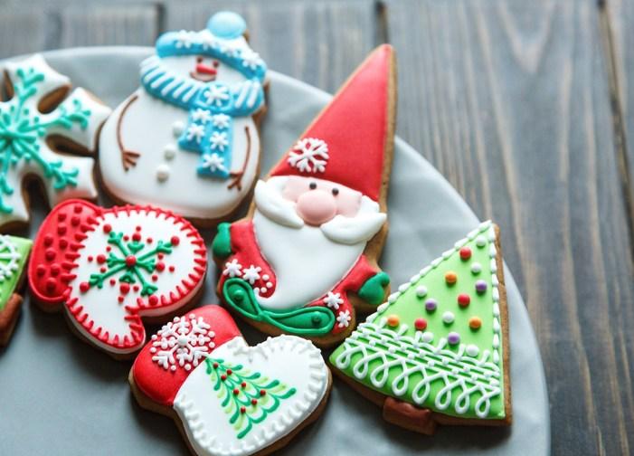 Bolachas de mel confeitadas para o natal. Imagem: Bricoflex