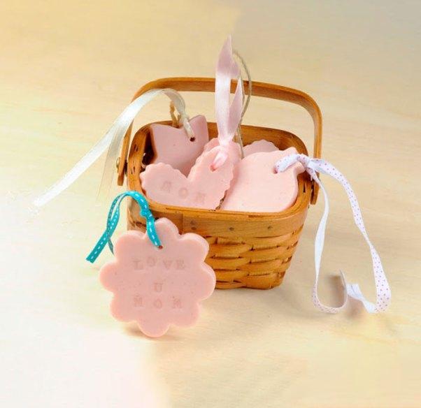 Mini sabonetes para fazer uma graça nas embalagens
