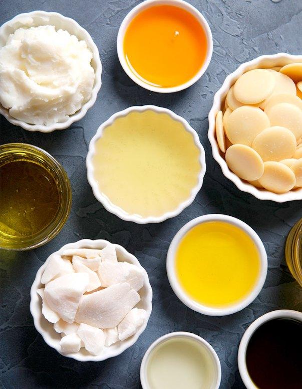 Os óleos e as manteigas da saboaria artesanal