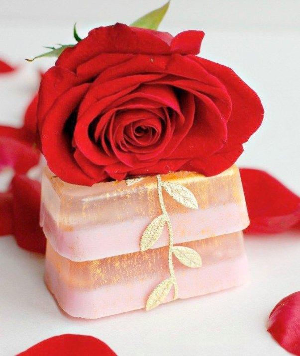Sabonetes de rosas com aromas mais delicados