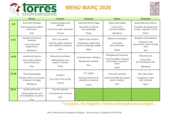 MENU GENERIC MARC 2020