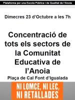 Concentració comunicat educativa 24oct13