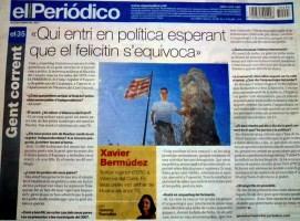 Xavier Bermúdez contra el Periodico