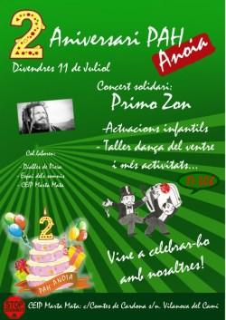 cartell 2 aniversari PAH Anoia