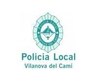 policia local logo blanc