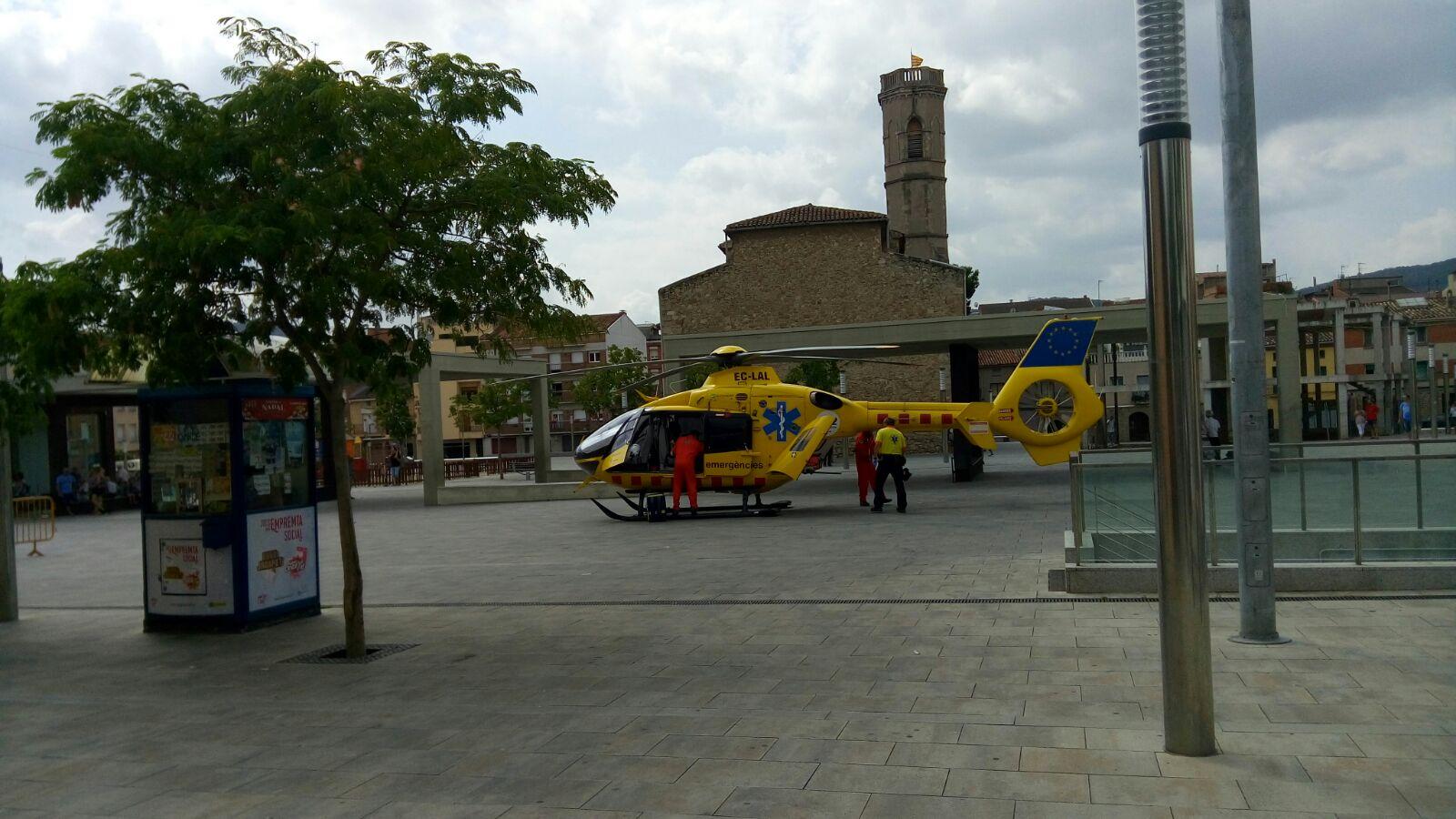 Helicòpter pl Mercat. Foto Manel Albareda