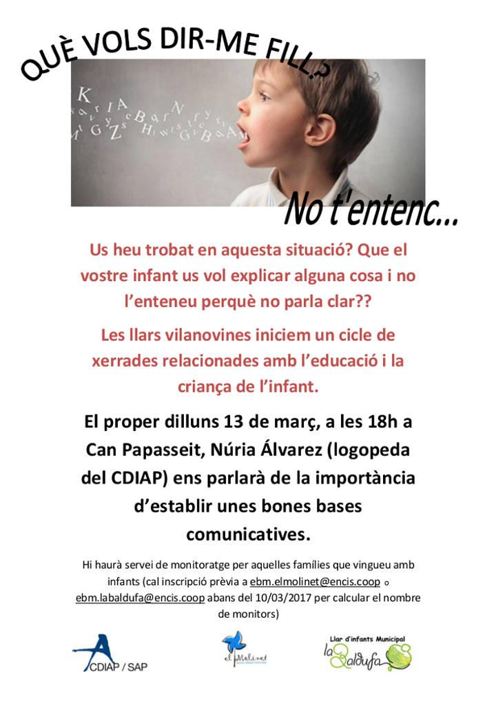 xerrada llenguatge llars infants