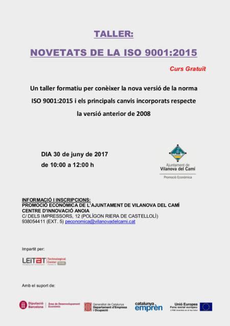 Taller Norma ISO cartell