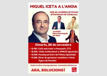 Miquel Iceta a l'Anoia premsa-fons