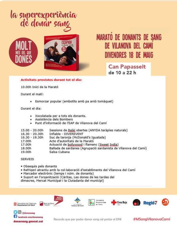Marato de sang 2018 - Programa-V11