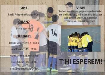 Club Futbol Sala Can Tito Vilanova programa entrenaments-v11-fons-v22