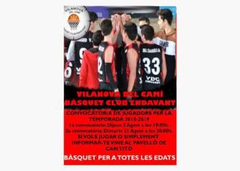 Basquet Club Endavant cartell temporada 2018-19-fons-v22