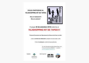 Vilashopping nit de tapes 2018 vols participar cartell-fons-v22