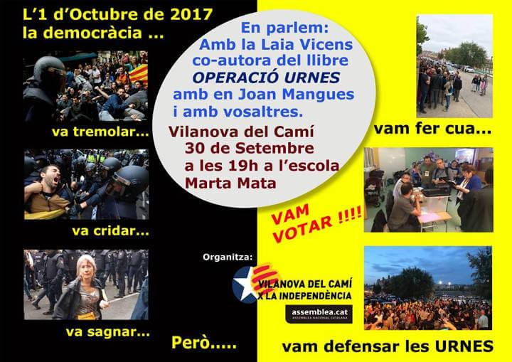 Vilanova x la Independencia comemoracio 1Oct 2018-cartell-v11