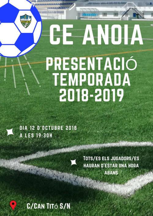 CE Anoia Presentació 18-19 cartell