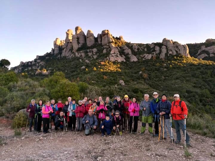Colla a Montserrat des 2018-Foto-Colla-Excursionista-Vilanova-del-Cami