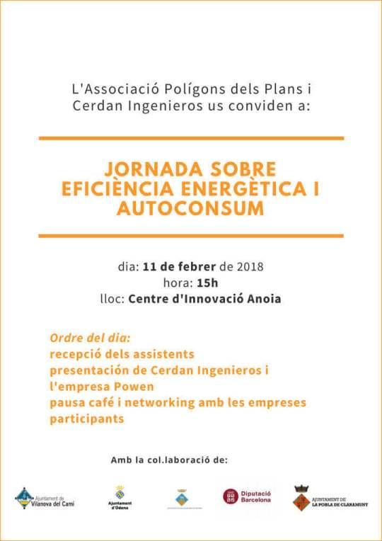 cartell jornada eficiencia energetica i autoconsum 11-2-19-cartell