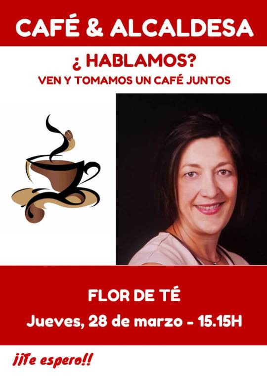 Cartell CAFE & ALCALDESSA de 28 març 2019