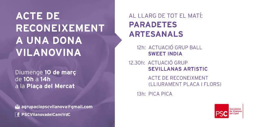 dia de la dona PSC Vilanova