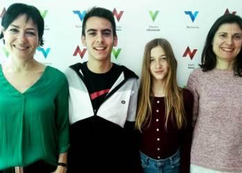 Adrian Vazquez i Nuria Abad (al mig) Premi Sambori 2019 (3)