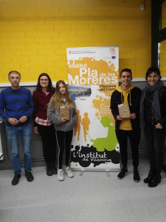 Alumnes de l'Institut Pla de les MOreres premiats amb el Premi Sambori 2019