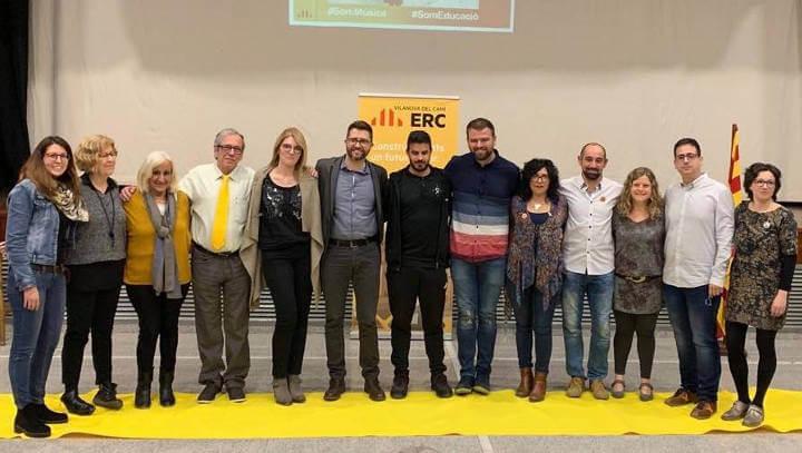 Presentació llista d'ERC Vilanova del Camí Eleccions Municipals 2019