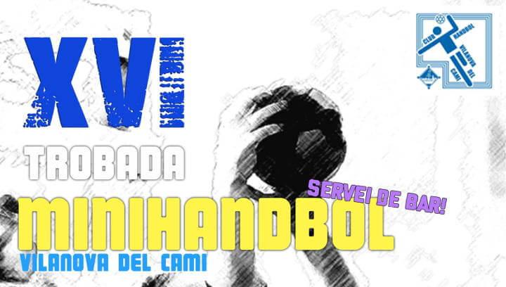 Cartell trobada mini handbol 2019