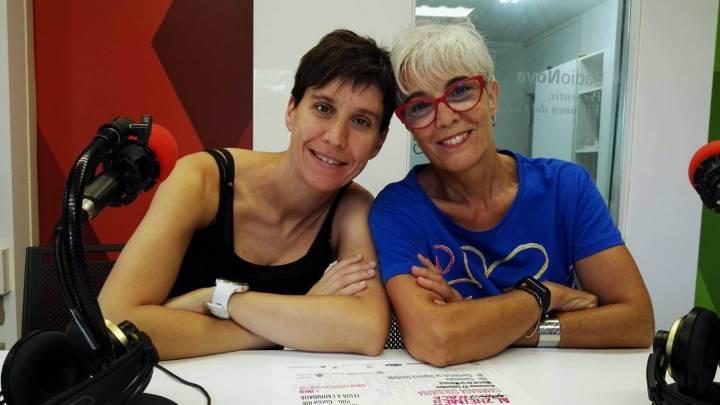 Menchu Vélez i Núria Solà d'AFADA