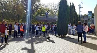 Simulacre al CAP Vilanova del Camí per garantir una bona resposta en cas d'incendi