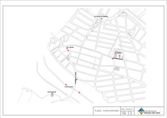 Mapa dels punts senyalitzats interes des19