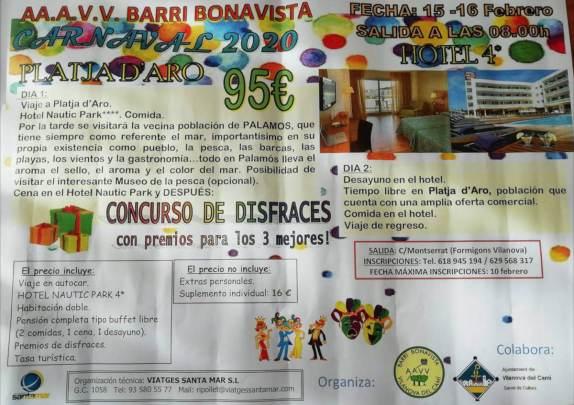 Sotida AAVV Bonavista a Platja d Aro 2020 cartell