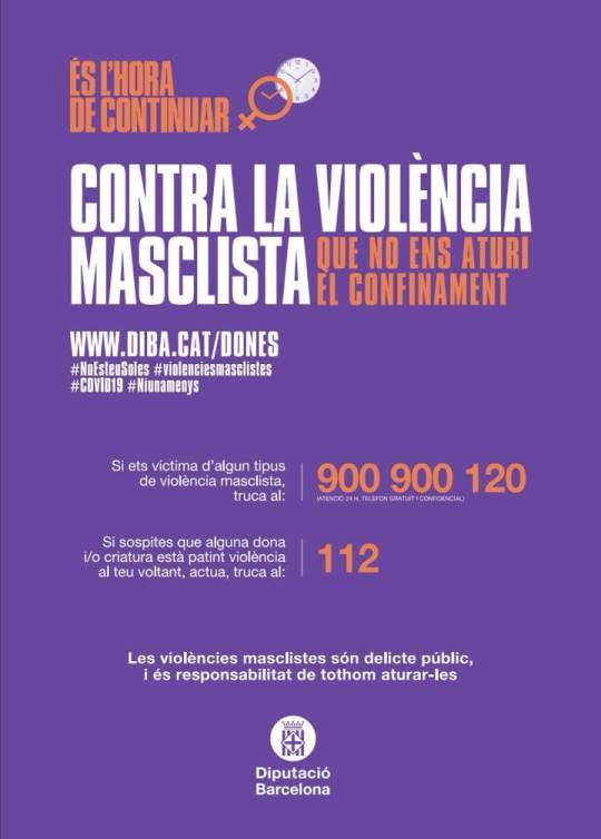 Contra la violencia masclista cartell