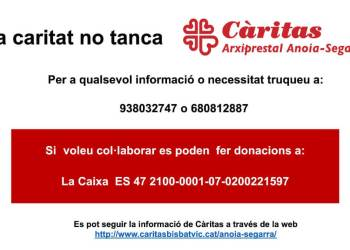 Caritas no tanca-cartell