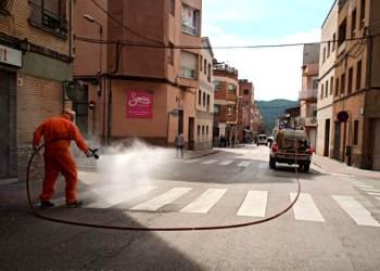 Neteja carrers amb proteccio civil 3