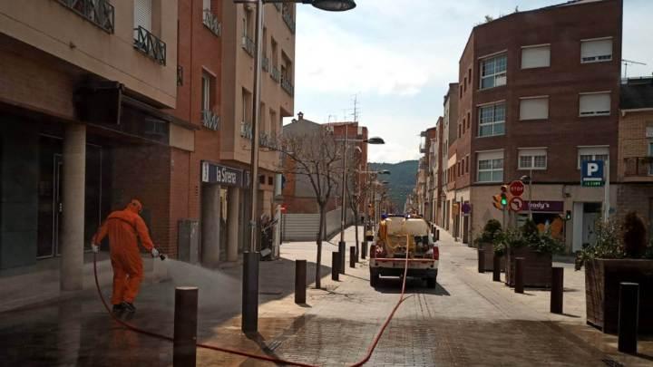Neteja carrers amb proteccio civil