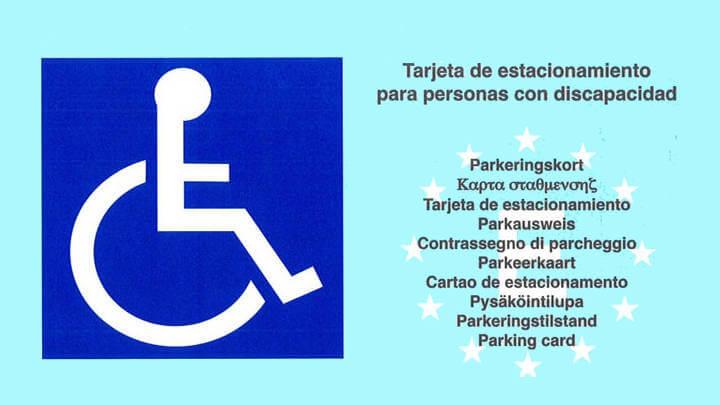 Tarjeta de estacionamiento imagen